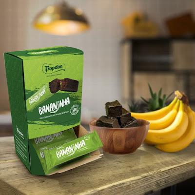 Bananinha sem açúcar da Tropdan ganha nova embalagem