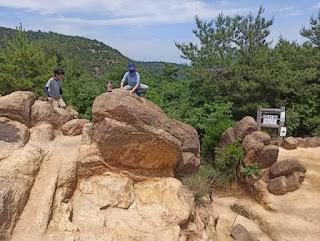 風吹岩に登る