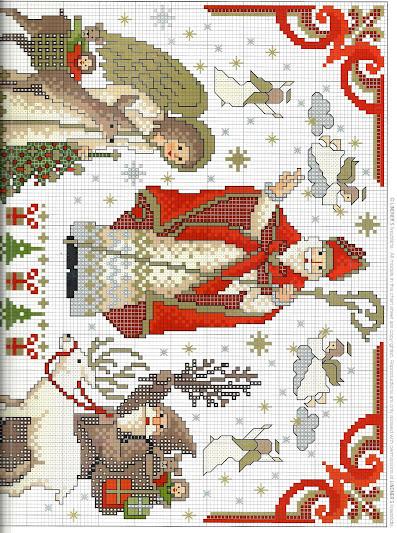 Punto croce Natale schemi gratis da scaricare e stampare, facili e veloci