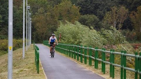 Letették a Győr és Pannonhalma között épülő kerékpárút alapkövét