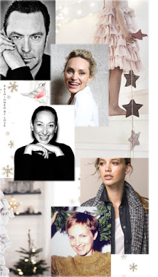 Christmas wishes from Christophe Robin, top fashion model & Innangelo silk scarves designer Inna Zobova, RMS Beauty make-up artist Rose-Marie Swift, fashion model Heloise Giraud & make-up artist Nat Van Zee for www.fashionedbylove.co.uk british fashion blog