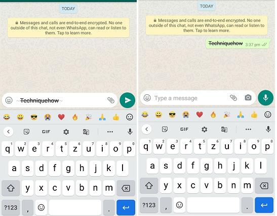 strikethrough font whatsapp