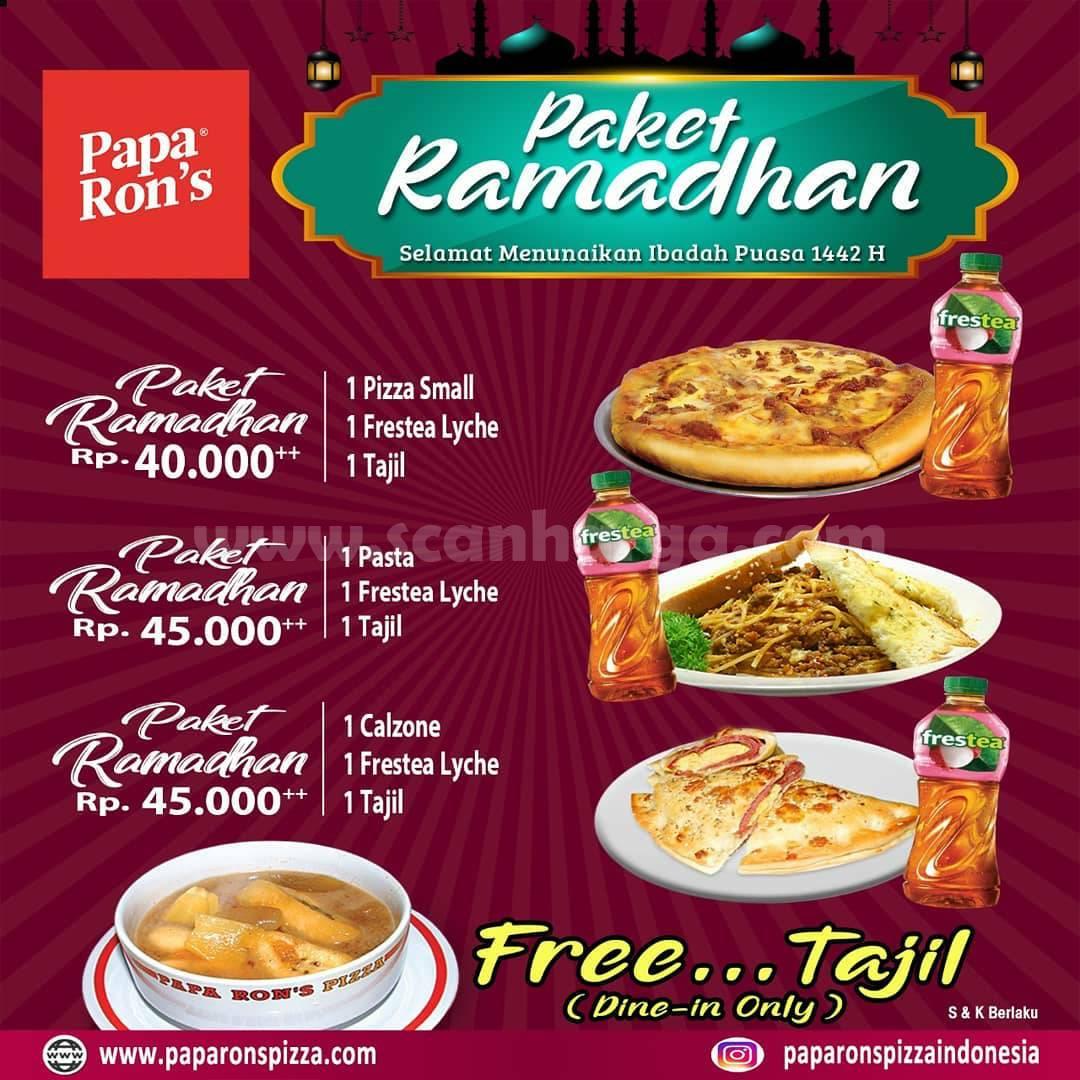Papa Ron's Pizza Promo Paket Ramadhan harga mulai Rp 40.000