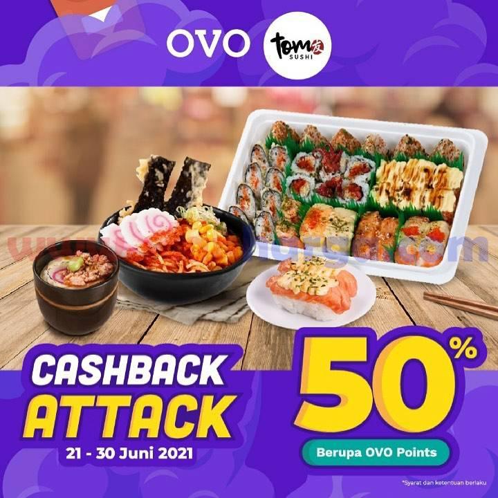 TOM SUSHI Promo OVO Points - Cashback hingga 50%