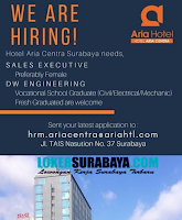 We Are Hiring at Hotel Aria Central Surabaya Needs July 2019