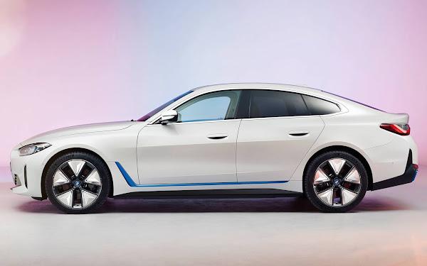 BMW i4 enfrentará o Audi e-Tron GT, Porsche Taycan e Tesla Model S
