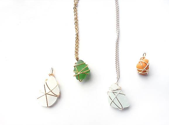 DIY stone necklace