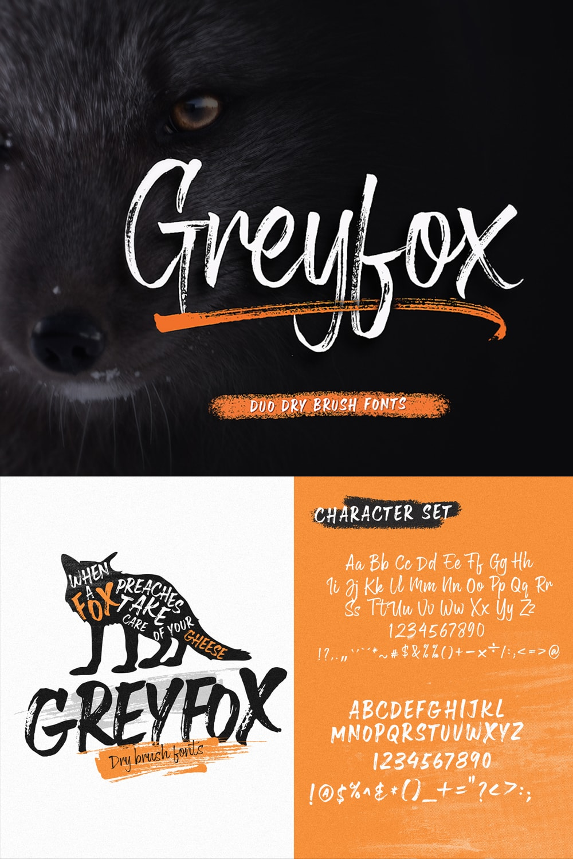 Greyfox Duo Dry Brush Font