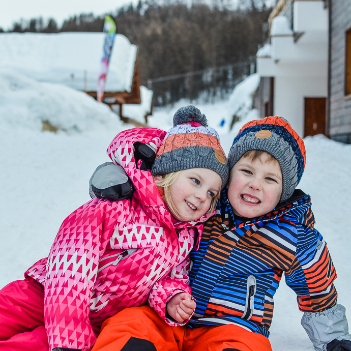 Family ski holiday, children's skiwear, Reima skiwear