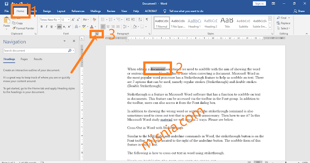 font toolbar in word