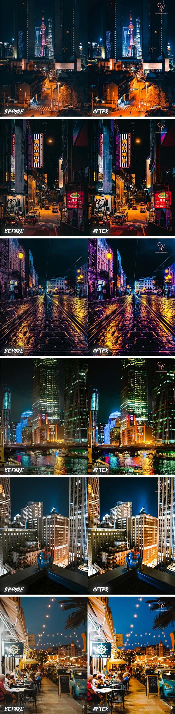 6 Night City Lightroom Presets