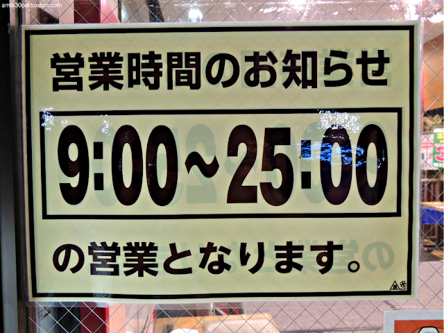 Cartel Horario Comercio de Tokio