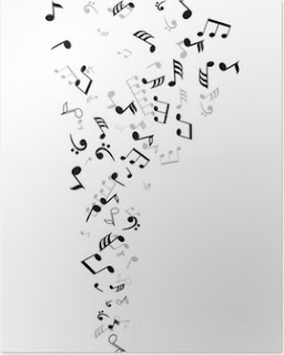 poster vector notas musicales