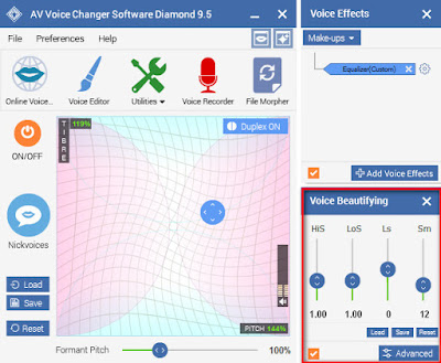 Voice Changer Software Diamond with Voice Beautifying feature