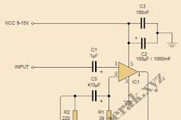 Skematik Rangkaian Power Amplifier TDA2003