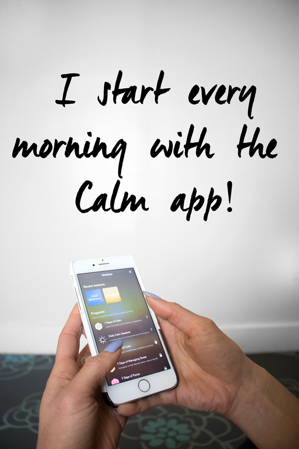 How to meditate with the Calm app