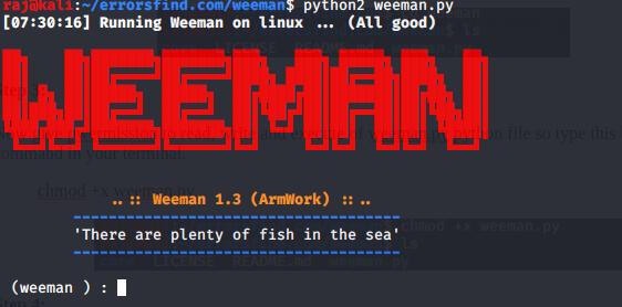How to create phishing page - Weeman Tool