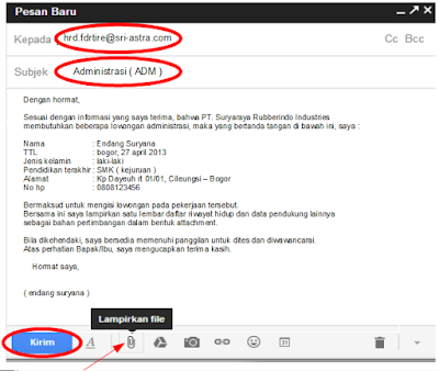 Contoh Surat Lamaran Pekerjaan Via Email