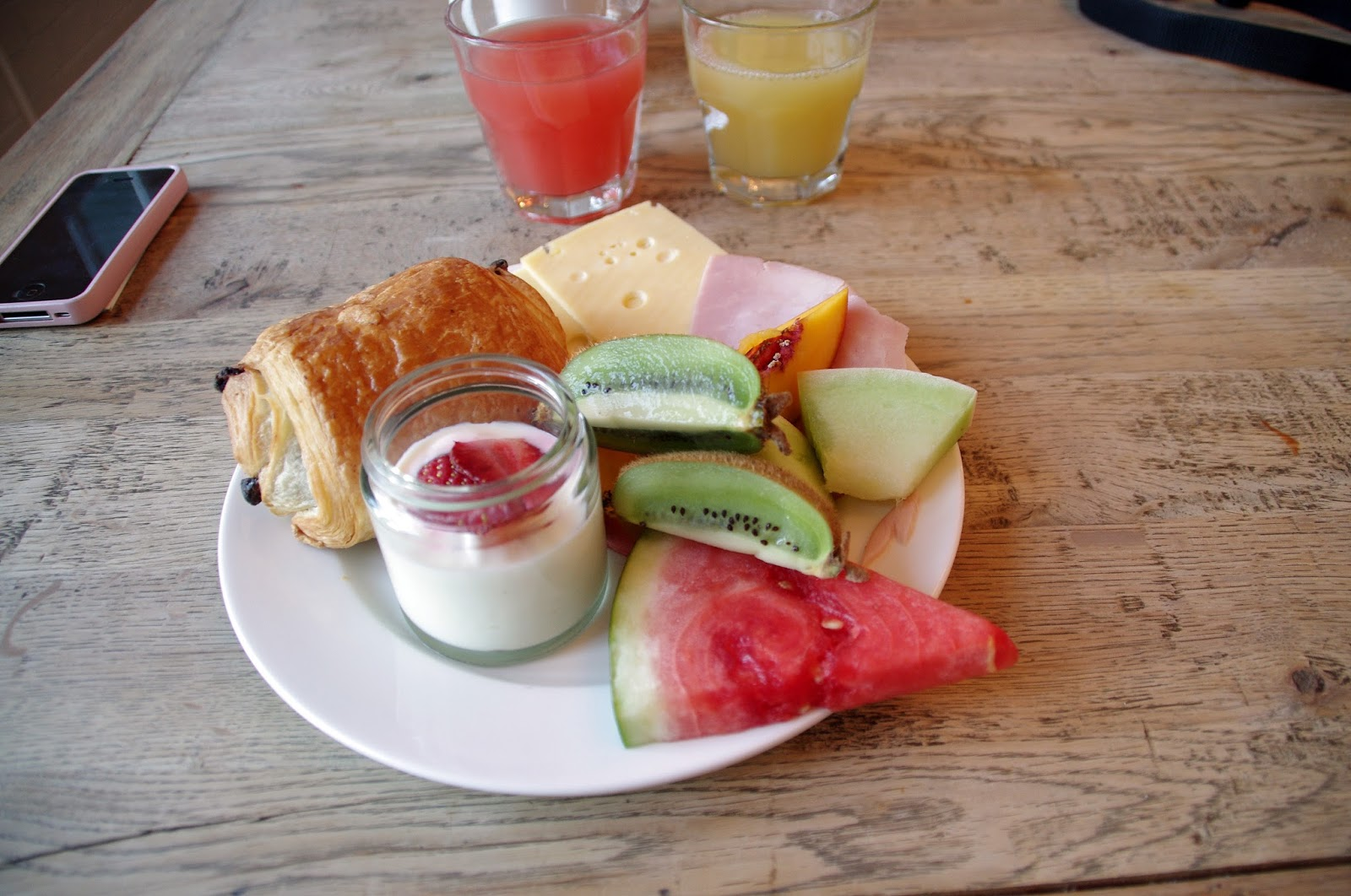 Delicious breakfast from watsons bay luxury hotel