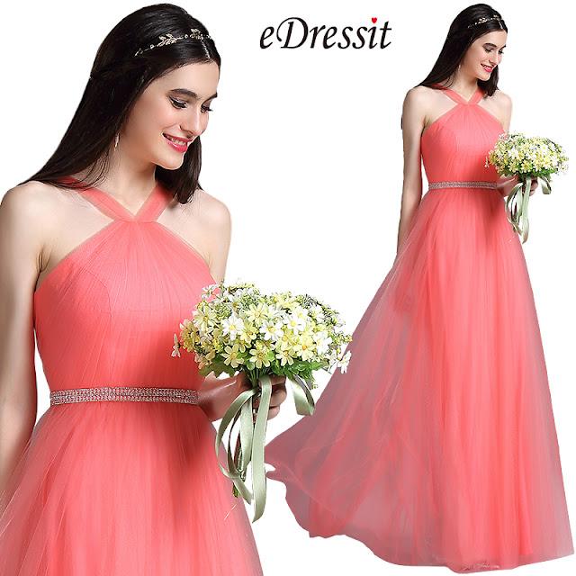 Magnifique robe de soirée pour demoiselle d'honneur couleur