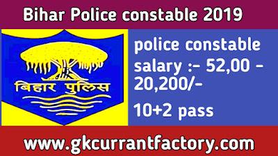 Bihar Police constable Recruitment, Bihar Police constable 2019