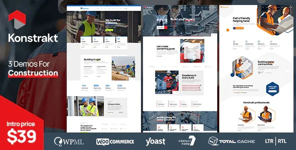 Best WordPress Theme for Construction