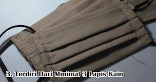 Terdiri Dari Minimal 3 Lapis Kain merupakan syarat masker kain bisa untuk cegah penularan virus