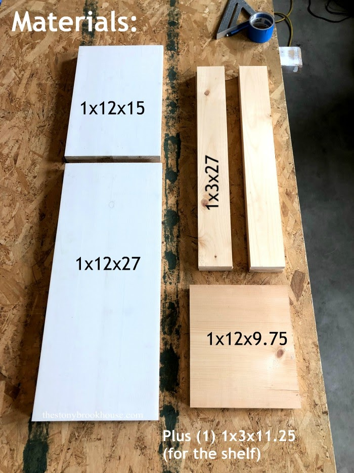 Materials & measurements of C-table