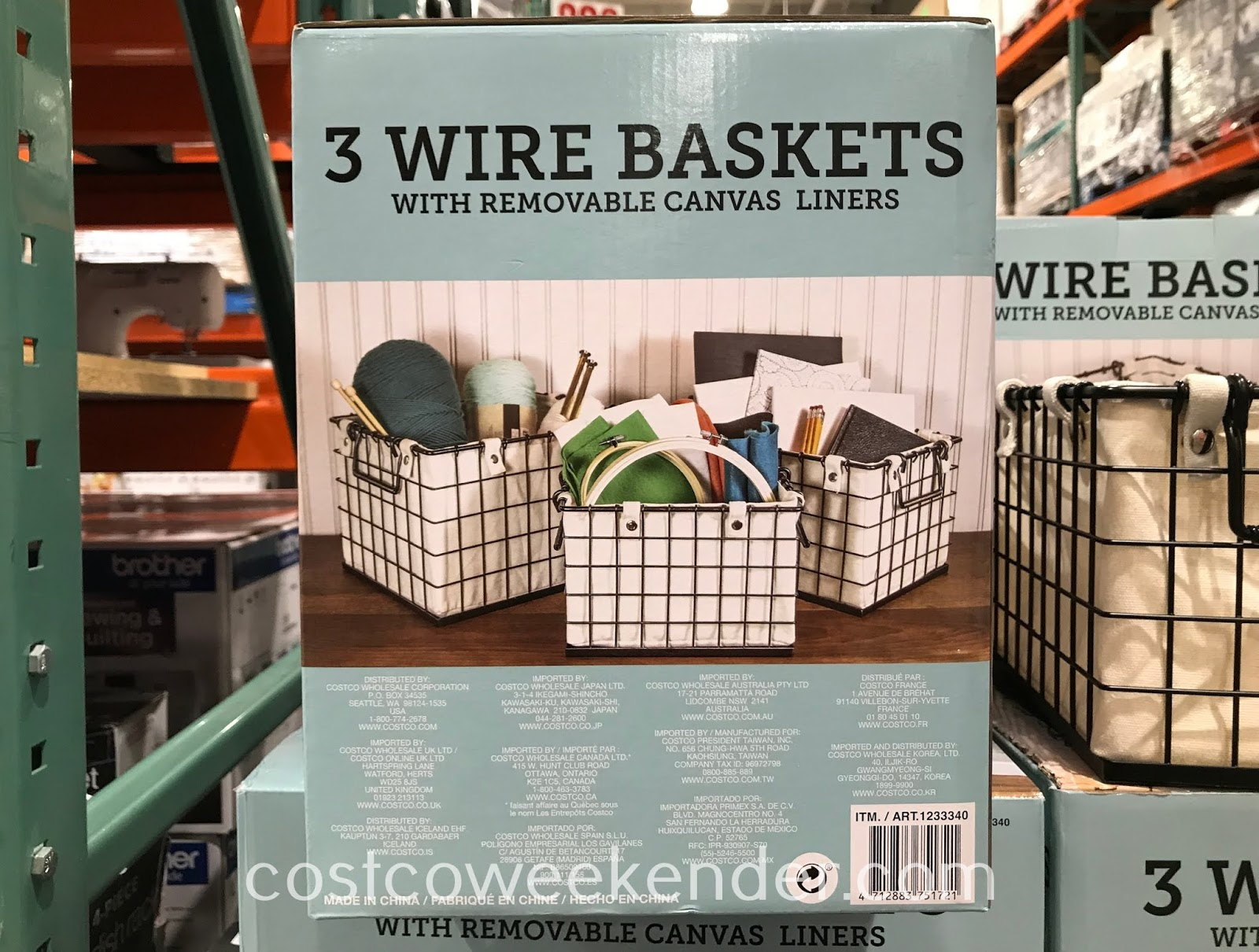 Costco 1233340 - Giftburg 3 Wire Baskets: great for storage