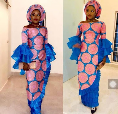 Latest Iro and Blouse Styles With Lace and Ankara