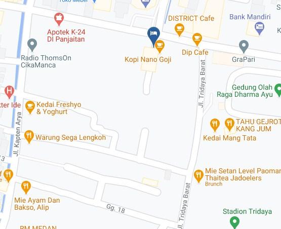Map Letak Hotel Wiwi Perkasa 2 Indramayu