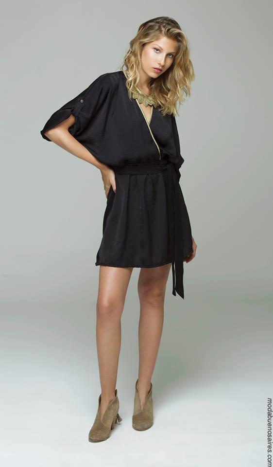 Moda invierno 2017 ropa de mujer moda vestidos de fiesta cortos.