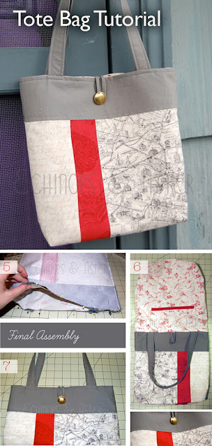 Tote Bag Sewing Pattern DIY Tutorial