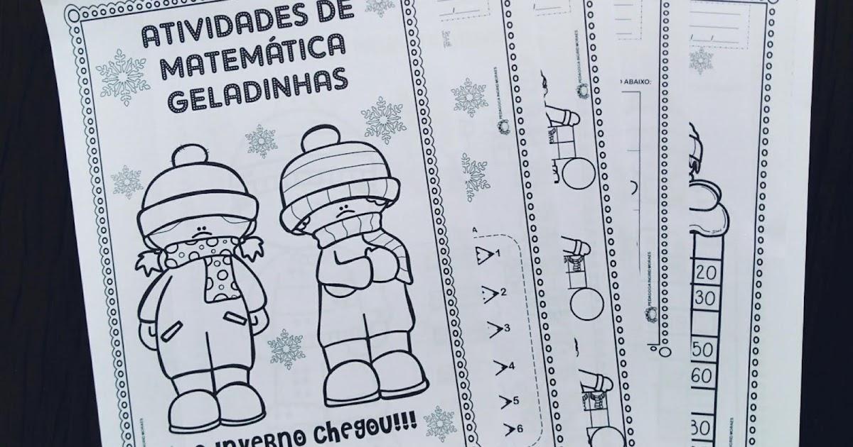 ATIVIDADES DE ALFABETIZAÇÃO. PACOTE: ATIVIDADES DE MATEMÁTICA GELADINHAS