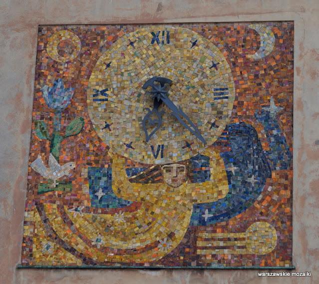Warszawa Warsaw warszawskie mozaiki mozaika na Mariensztacie Zofia Czarnocka-Kowalska dekoracja ceramika lata 40