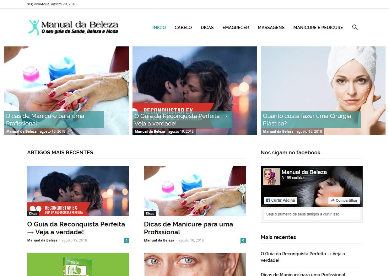 Manual da Beleza - Site + Logo + Fanpage