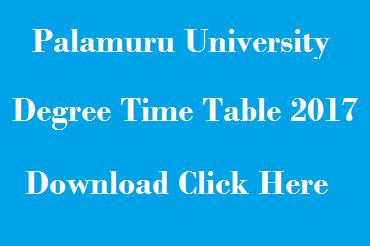 pu ug exam time table 2017 download