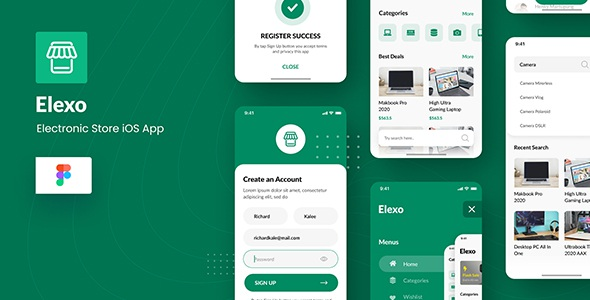 Best Electronic Store iOS App Template