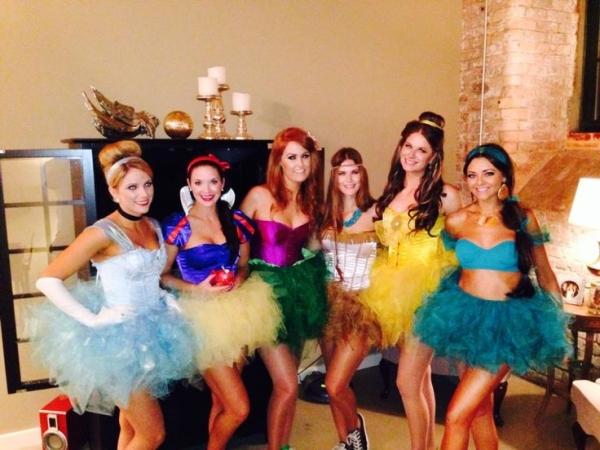 Cute DIY Halloween costume idea for adults. Disney princesses with tutus. Too cute.  sc 1 st  Halloween Special & Halloween Costumes DIY Women Ideas