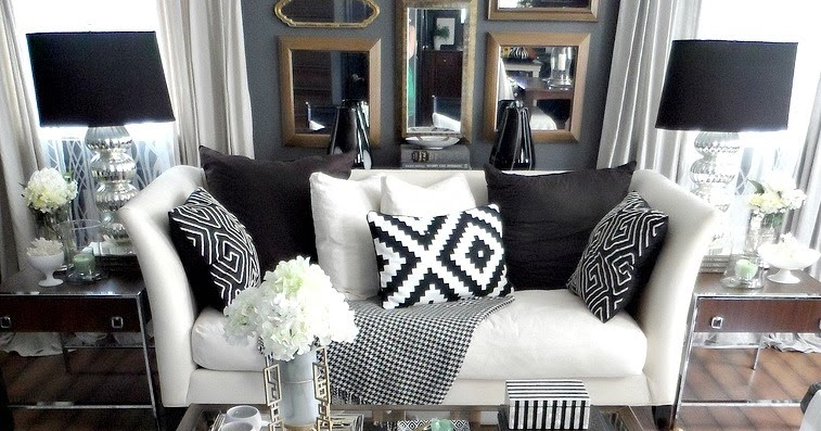 FOCAL POINT STYLING: THRIFTED CHIC: BLACK U0026 WHITE LIVING ROOM On CHAIRISH