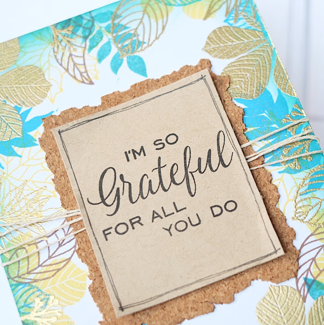 Sunny Studio Stamps: Elegant Leaves Grateful For You Card by Lexa Levana
