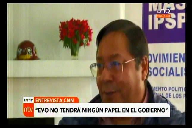 En CNN Arce Catacora descartó a Evo Morales y dijo que no tendrá ningún rol en su gobierno