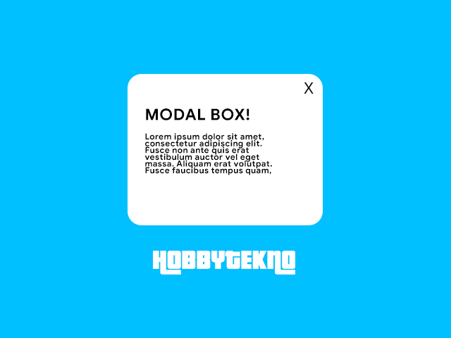 Cara Membuat Modal Box Pure CSS