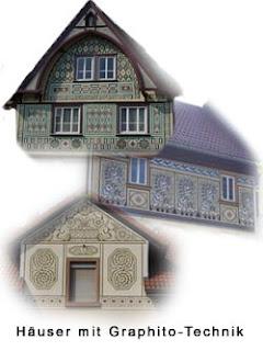 Von Joseph Stoll gestaltete Hausfassaden in Bensheim