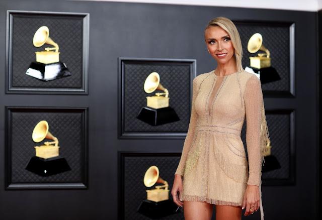 Giuliana Rancic at 2021 Grammy Awards in Los Angeles