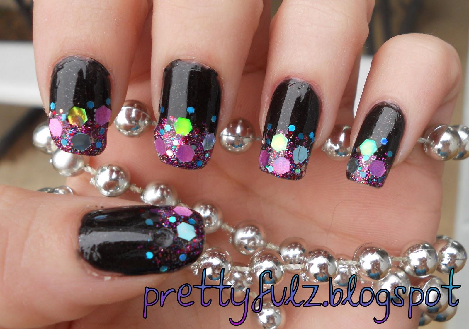 Prettyfulz Cute Nail Art Design Glitter Amp Shimmer Nail Art Design