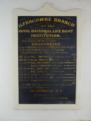Plaque commemorating lives saved by lifeboat