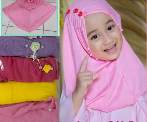 Jilbab Anak Flower Rose FA-173