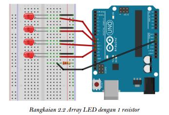 Rangkaian Array LED dengan 1 resistor