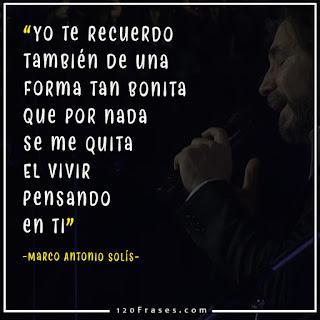 Marco Antonio Solis en vivo con letra cuando te acuerdes de mi